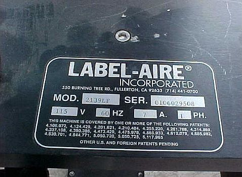 Label Aire Corner Wrap Labeler